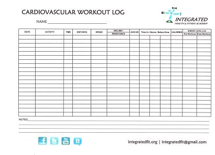 Cardio Workout Logs Printable  PetitComingoutpolyCo